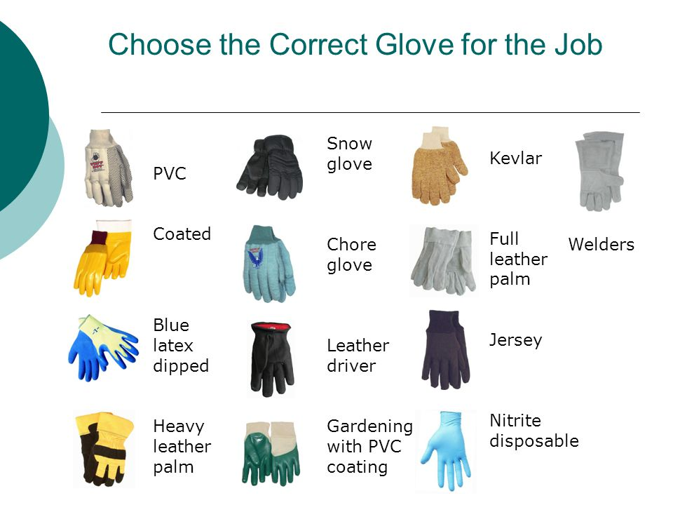Choose the Correct Glove for the Job