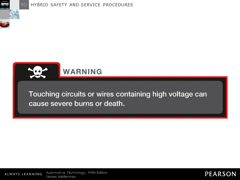 WARNING: Touching circuits or wires containing high voltage can cause severe burns or death.