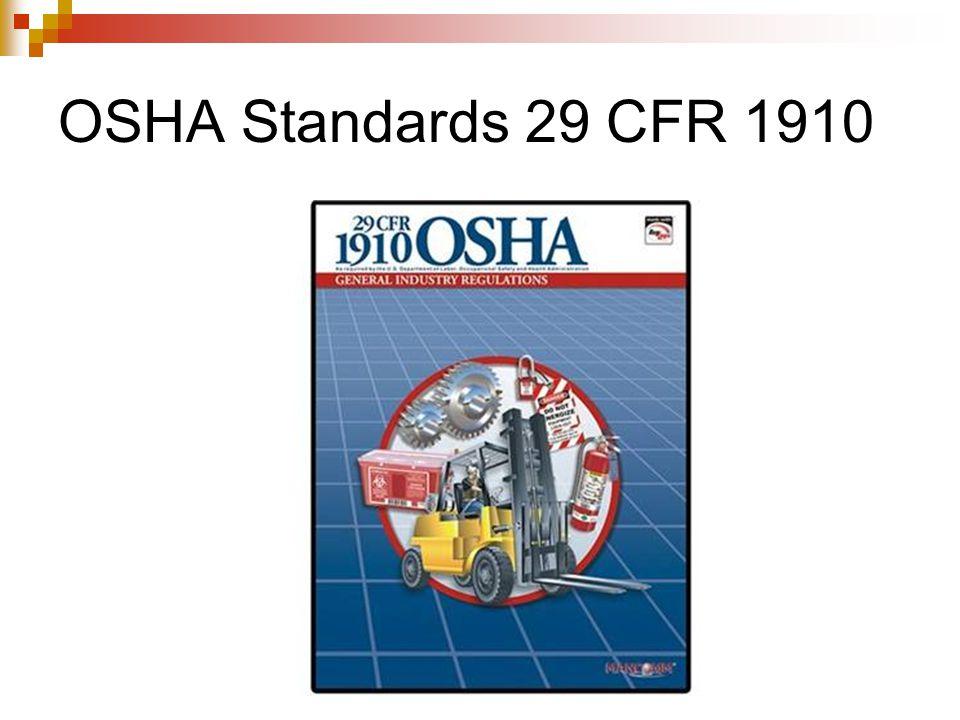 OSHA Standards 29 CFR 1910