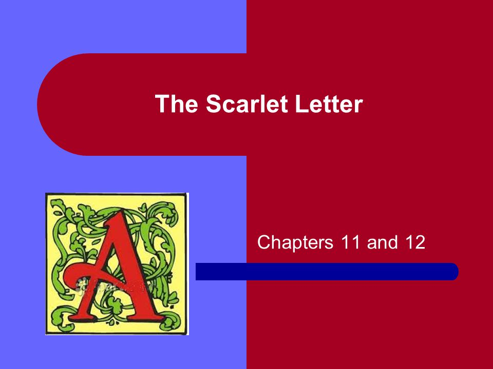 The Scarlet Letter Chapters 11 and 12