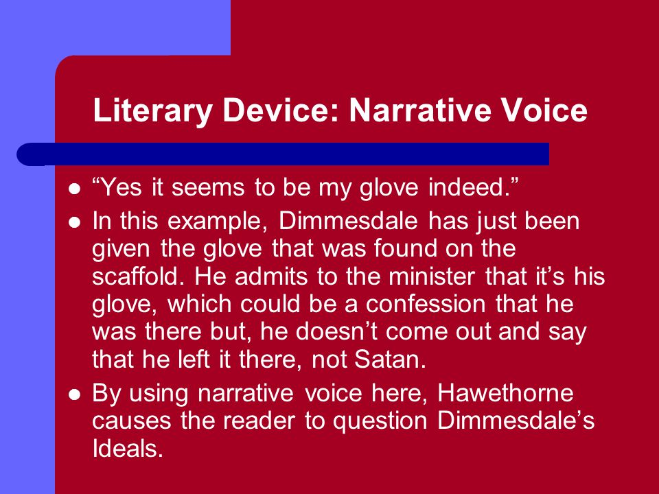 Literary Device: Narrative Voice