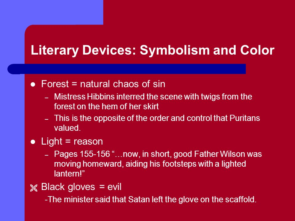 Literary Devices: Symbolism and Color