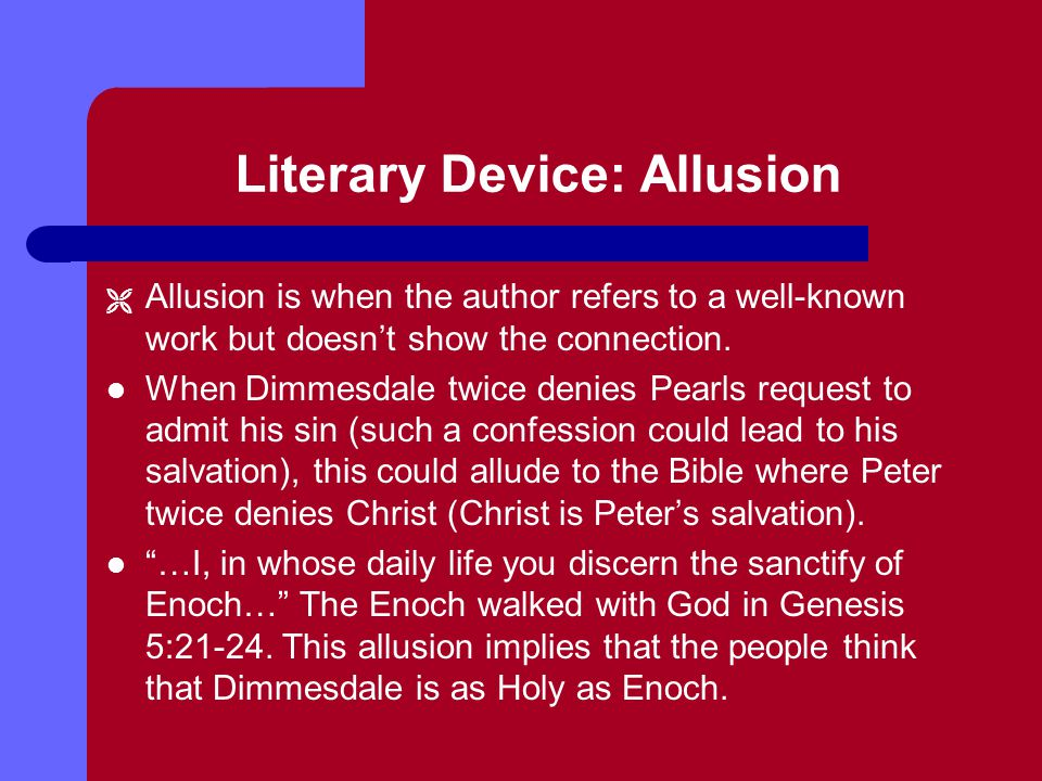 Literary Device: Allusion