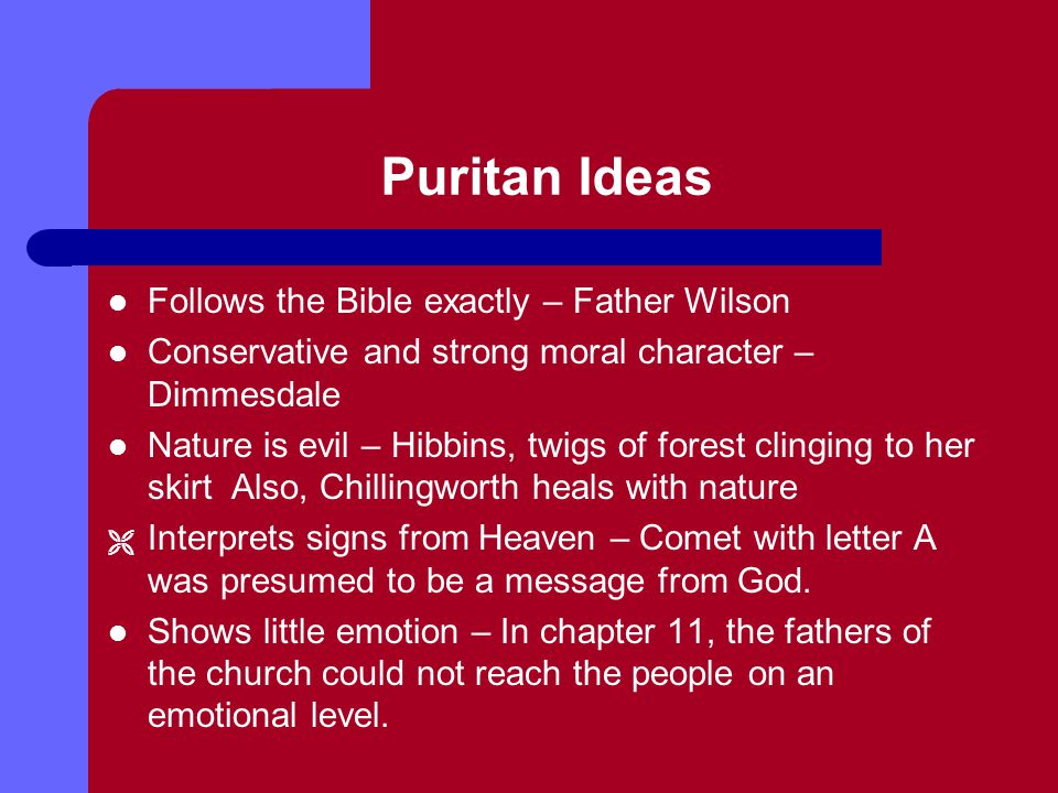 Puritan Ideas Follows the Bible exactly – Father Wilson