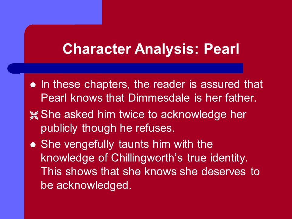 Character Analysis: Pearl