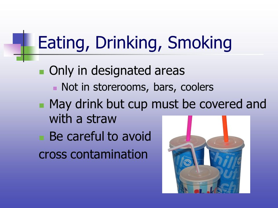 Eating, Drinking, Smoking