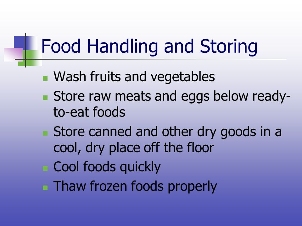 Food Handling and Storing