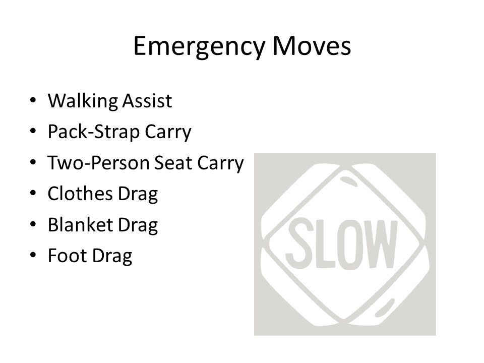 Emergency Moves Walking Assist Pack-Strap Carry Two-Person Seat Carry