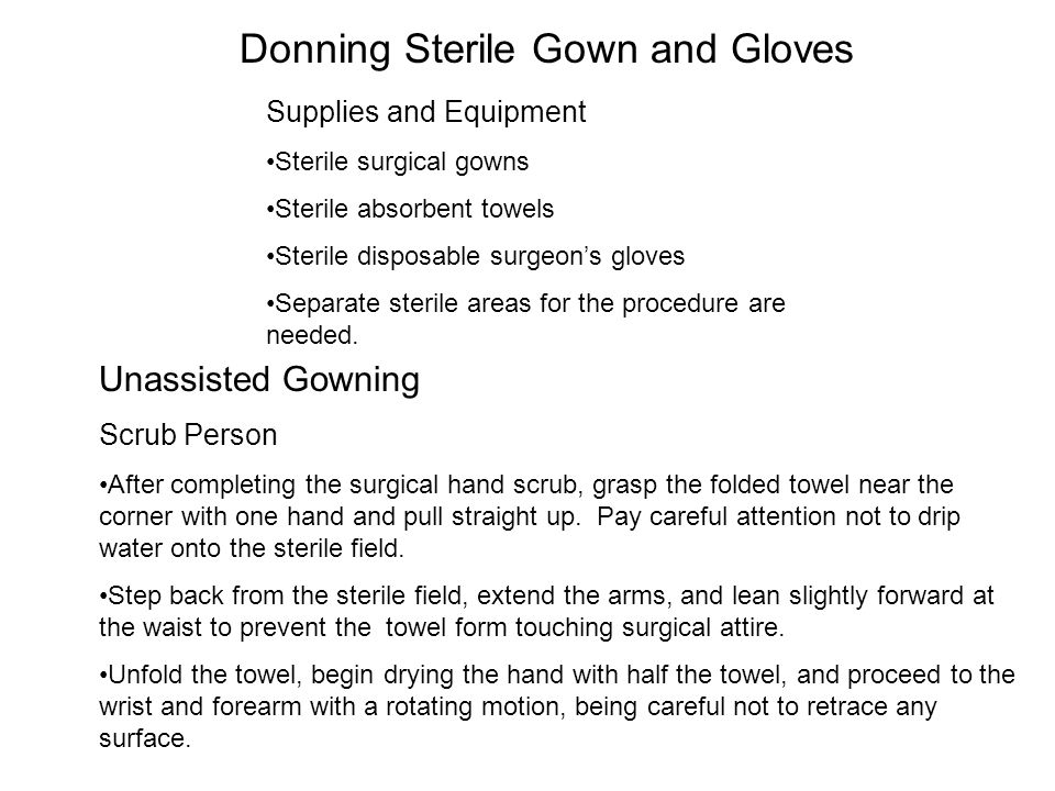 Donning Sterile Gown and Gloves