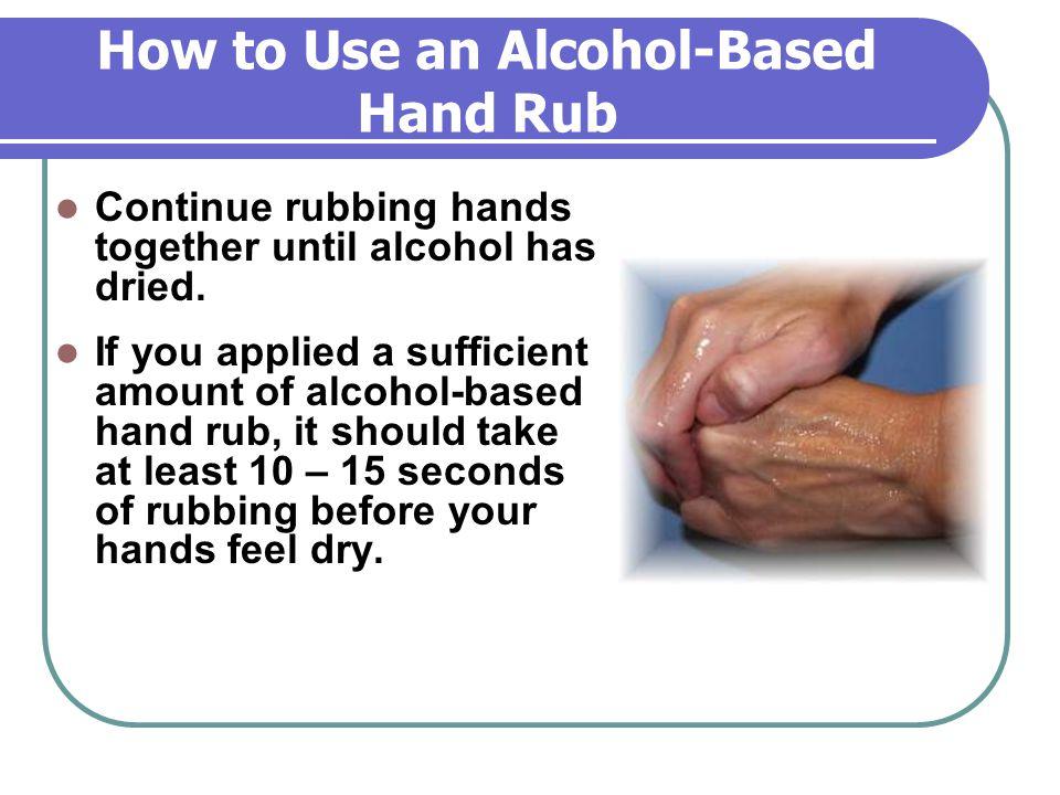 How to Use an Alcohol-Based Hand Rub