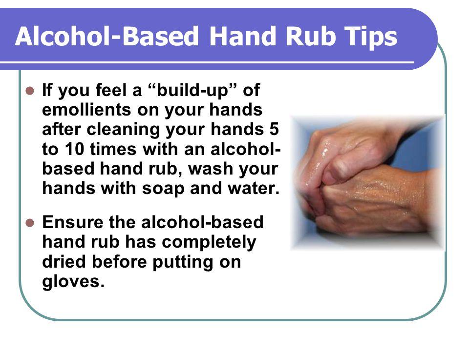 Alcohol-Based Hand Rub Tips