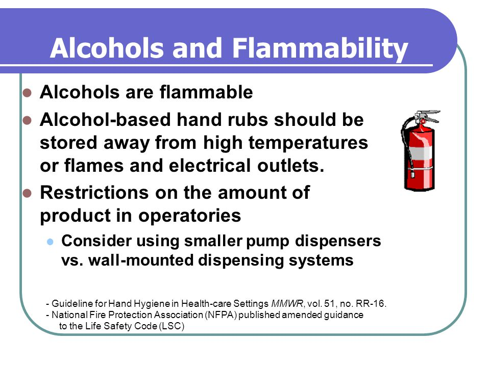Alcohols and Flammability