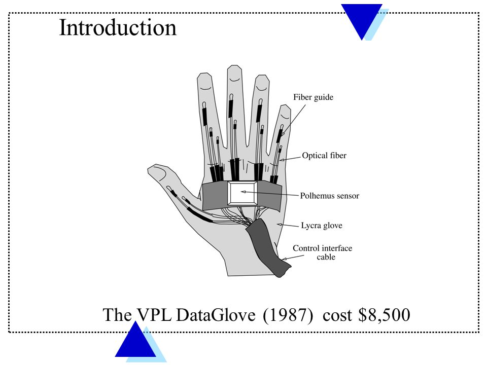 Introduction The VPL DataGlove (1987) cost $8,500