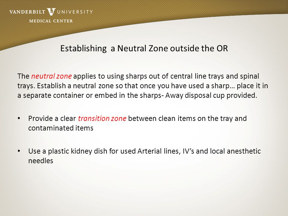 Establishing a Neutral Zone outside the OR
