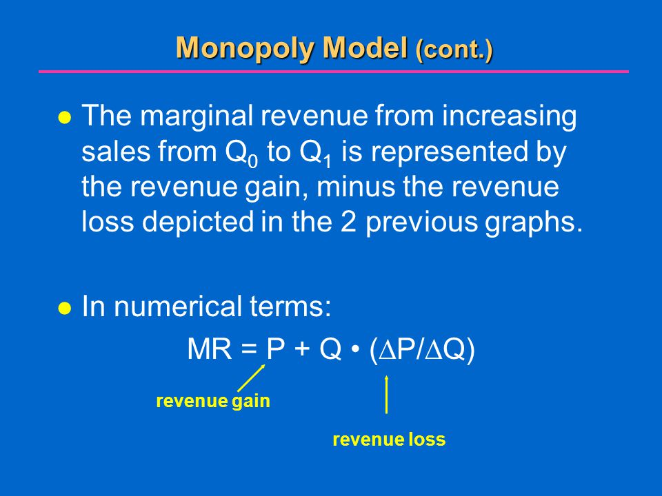 Monopoly Model (cont.)