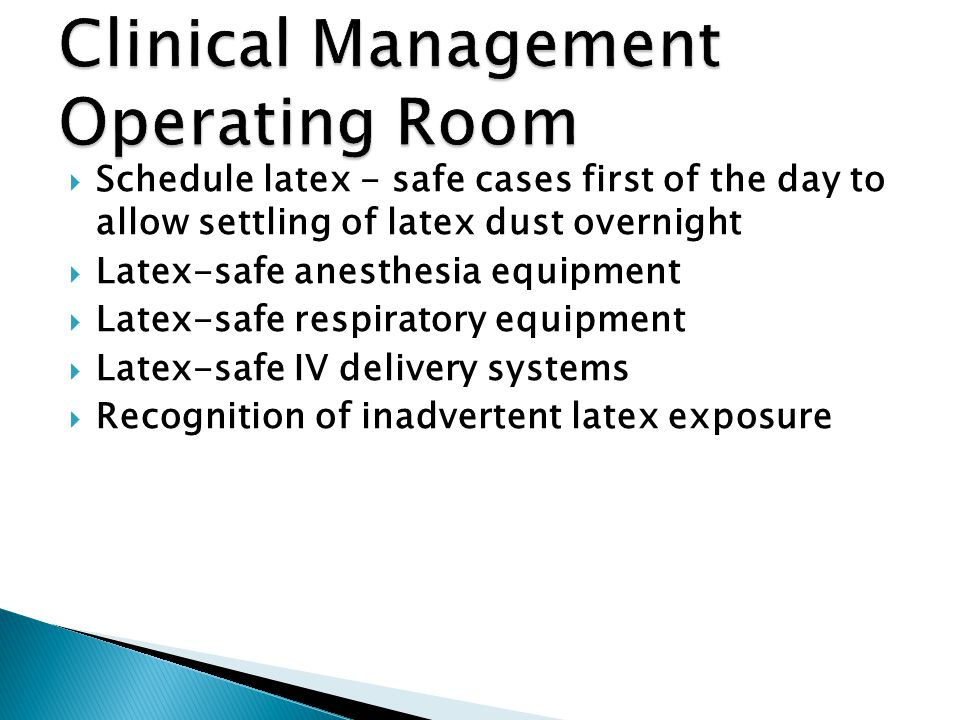 Clinical Management Operating Room