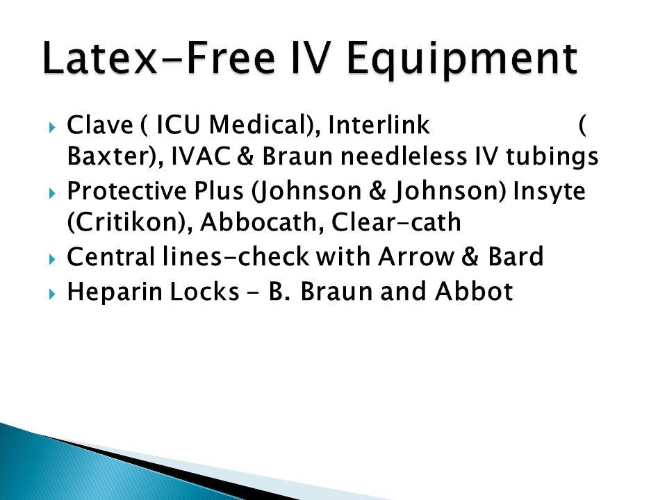 Latex-Free IV Equipment
