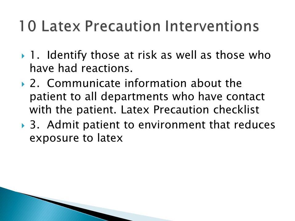 10 Latex Precaution Interventions