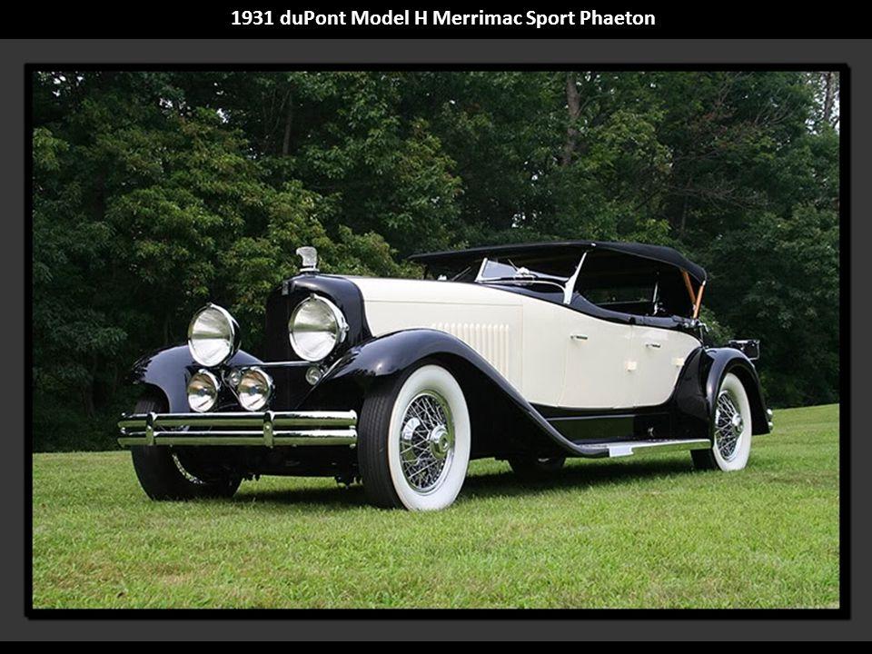 1931 duPont Model H Merrimac Sport Phaeton