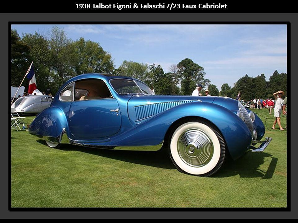 1938 Talbot Figoni & Falaschi 7/23 Faux Cabriolet