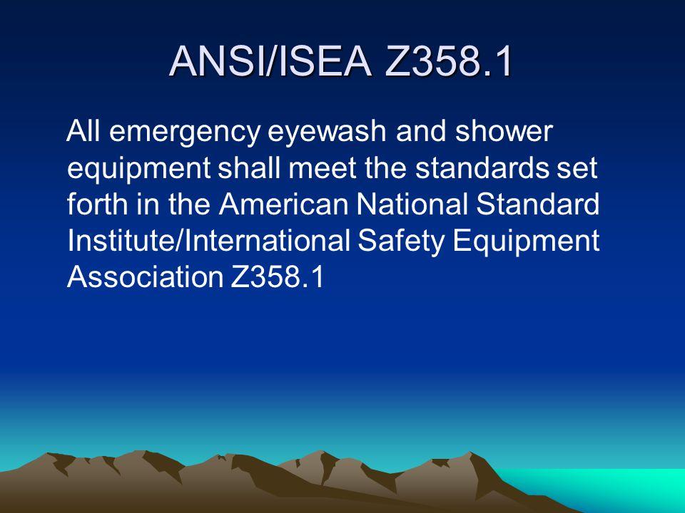 ANSI/ISEA Z358.1