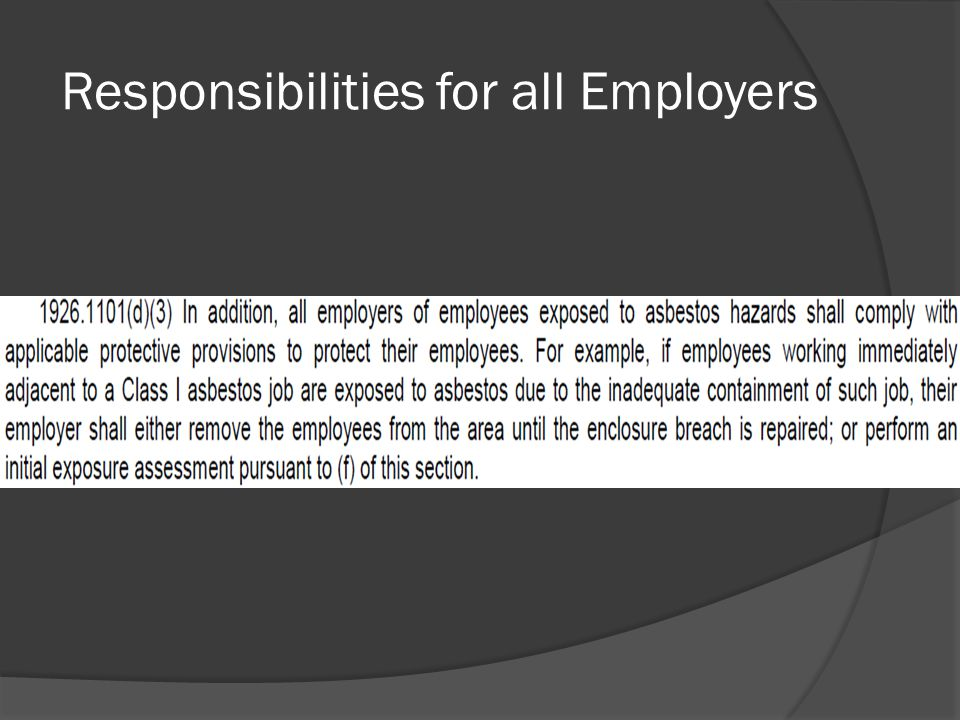 Responsibilities for all Employers