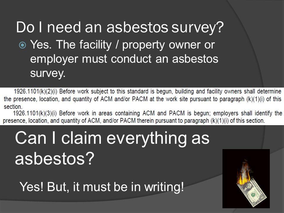 Do I need an asbestos survey