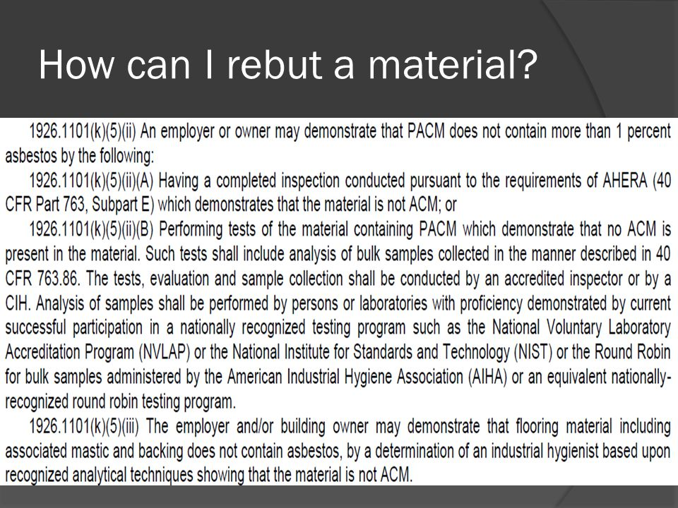 How can I rebut a material