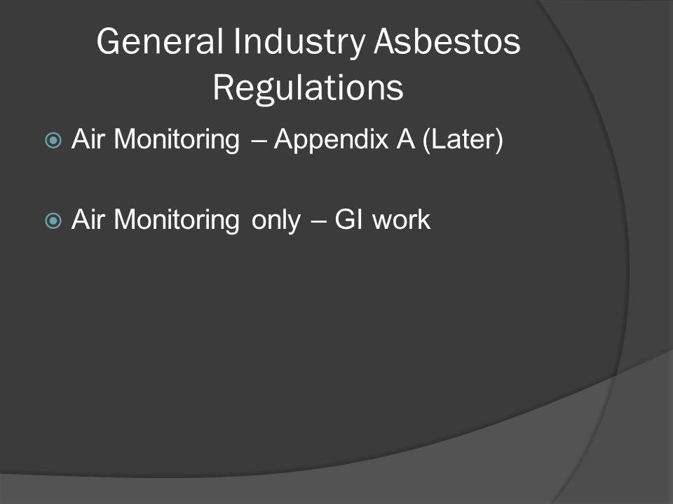 General Industry Asbestos Regulations