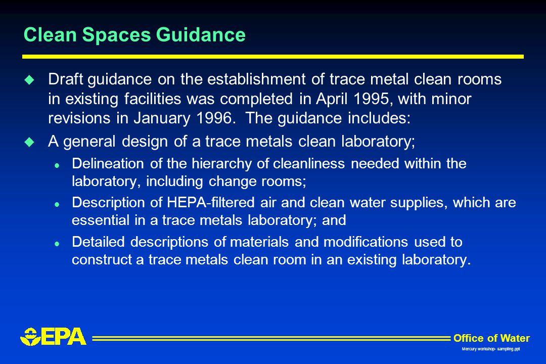 Clean Spaces Guidance