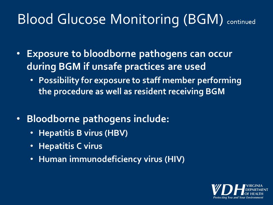 Blood Glucose Monitoring (BGM) continued