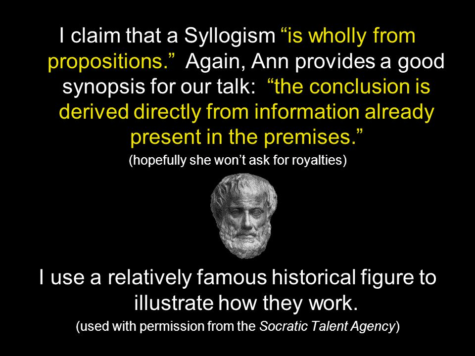 I claim that a Syllogism is wholly from propositions