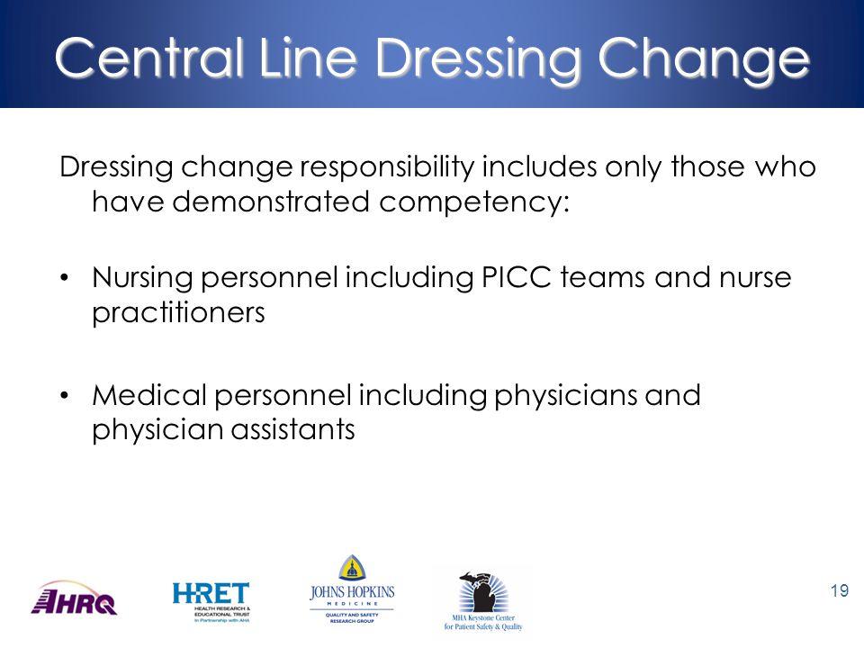 Central Line Dressing Change
