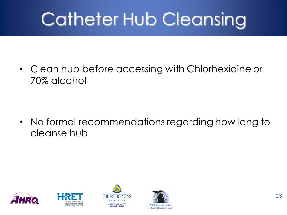 Catheter Hub Cleansing