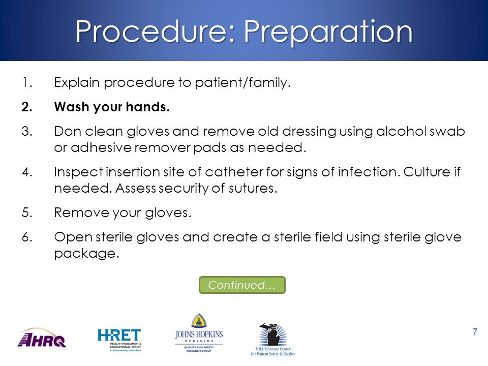 Procedure: Preparation