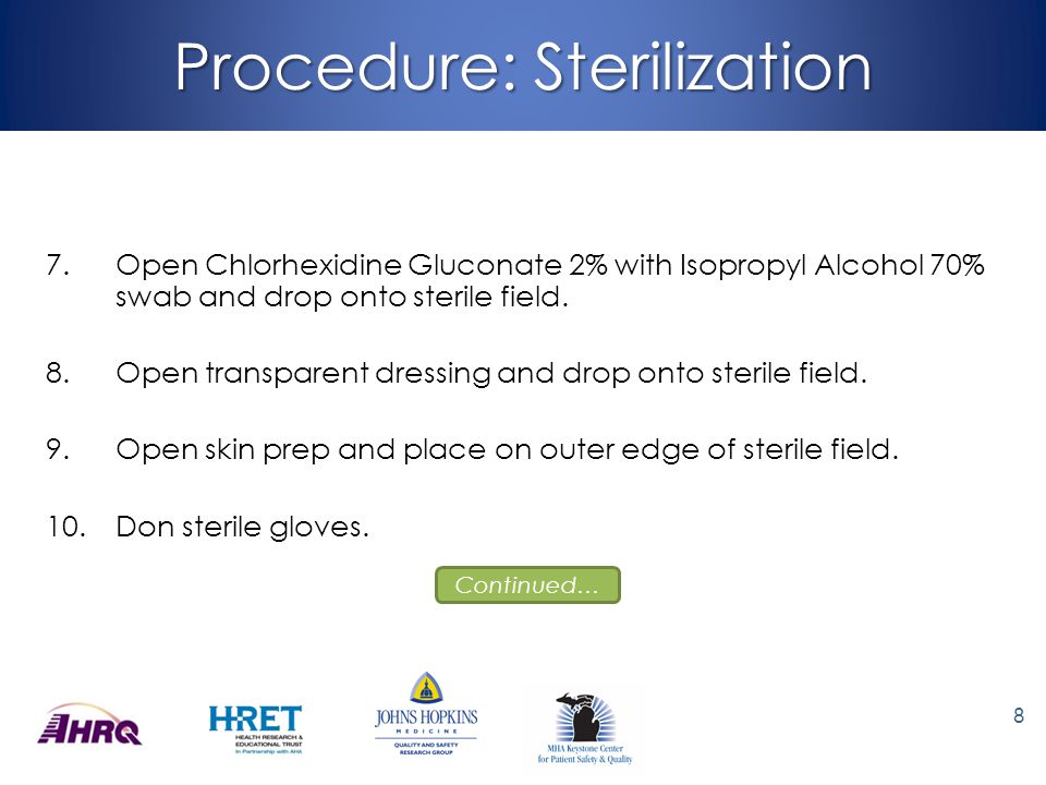 Procedure: Sterilization