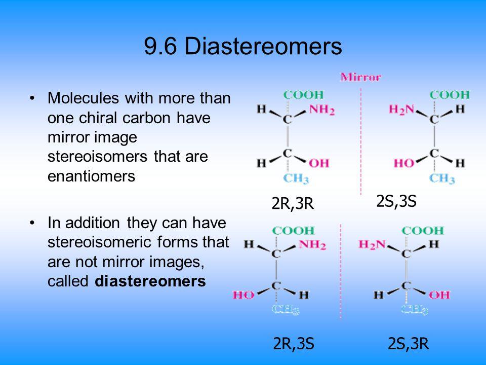 9.6 Diastereomers 2R,3S 2S,3R 2R,3R 2S,3S