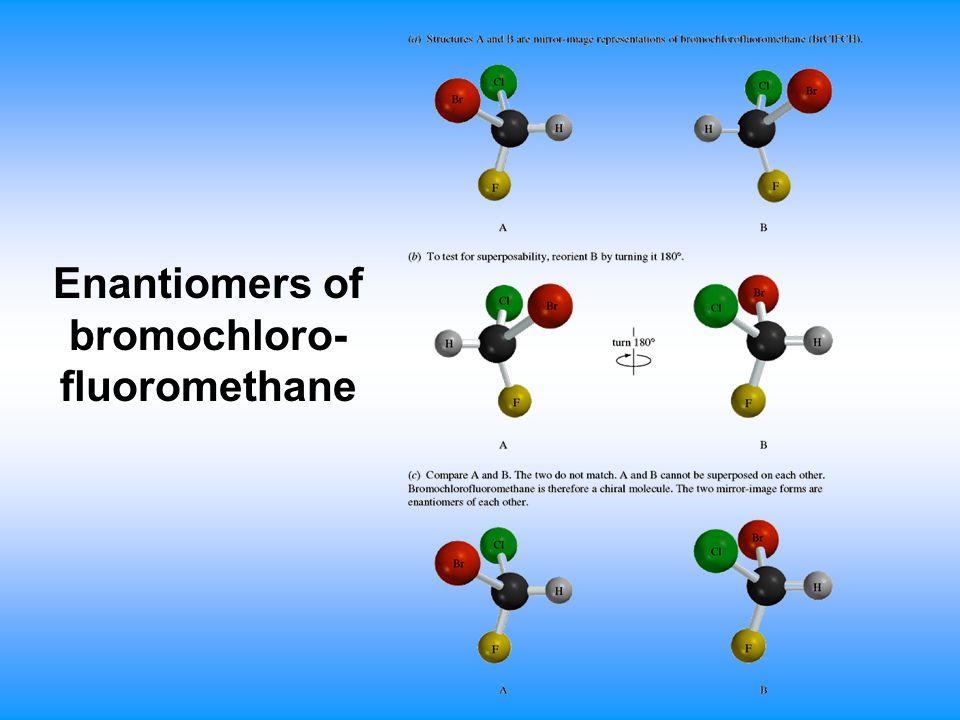Enantiomers of bromochloro-fluoromethane