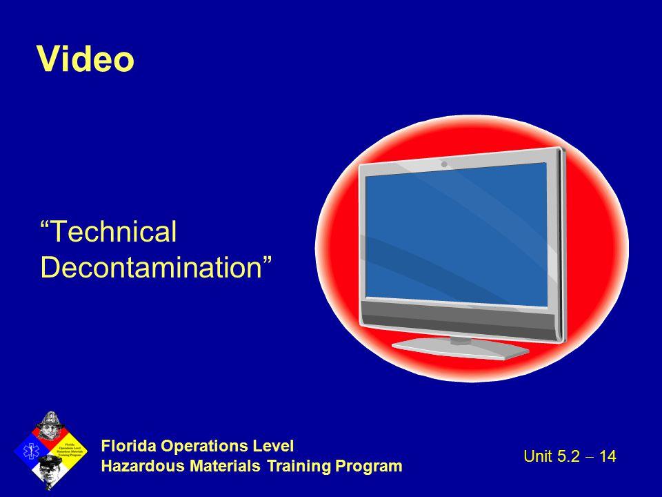 Video Technical Decontamination Unit 5.2  14