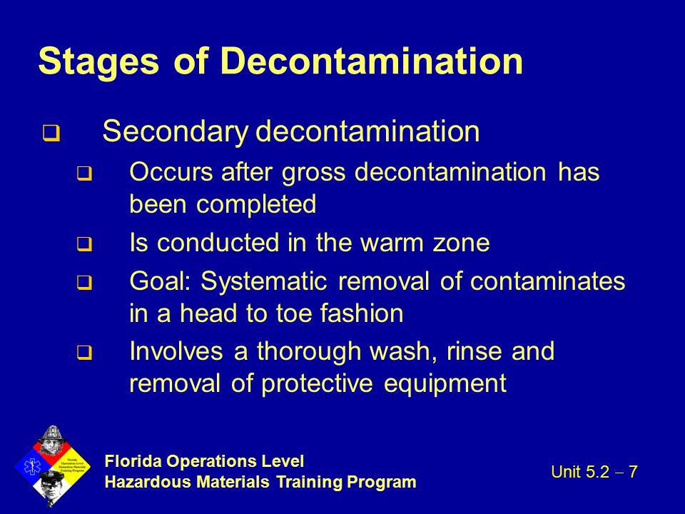 Stages of Decontamination
