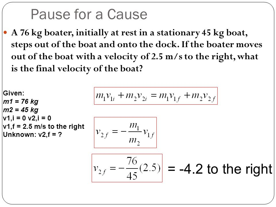 Pause for a Cause = -4.2 to the right