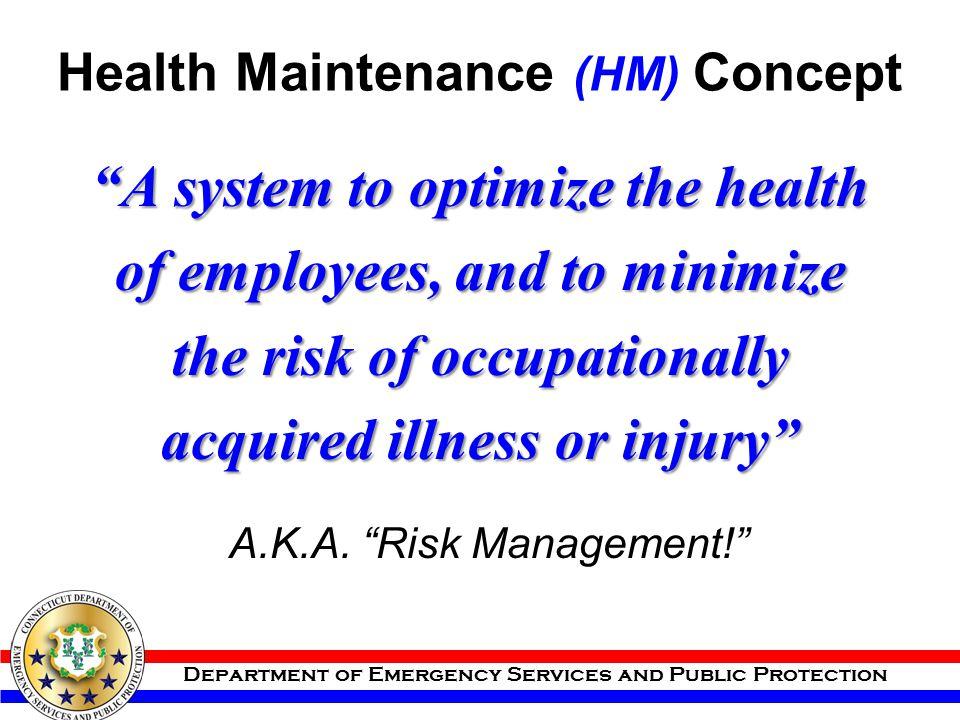 Health Maintenance (HM) Concept