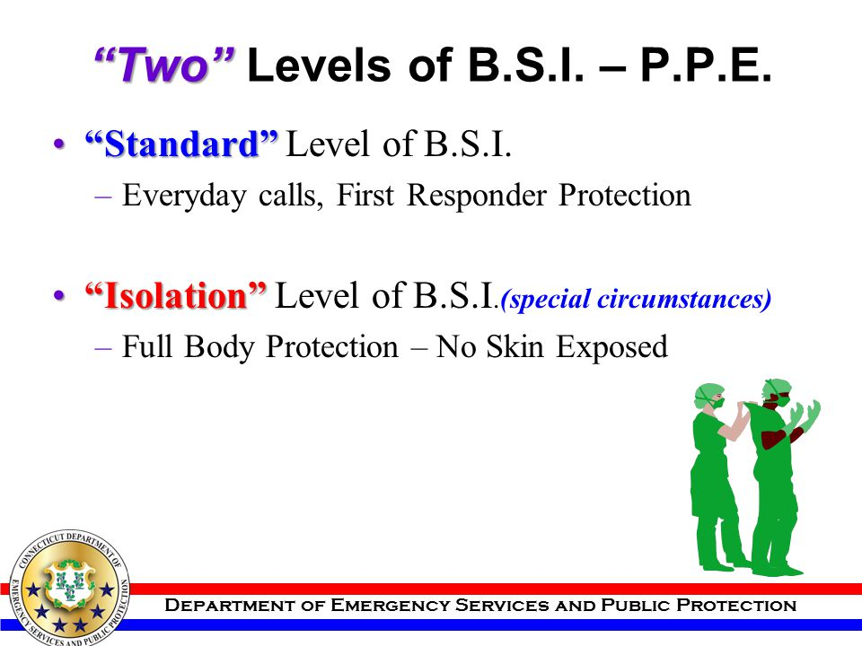 Two Levels of B.S.I. – P.P.E.