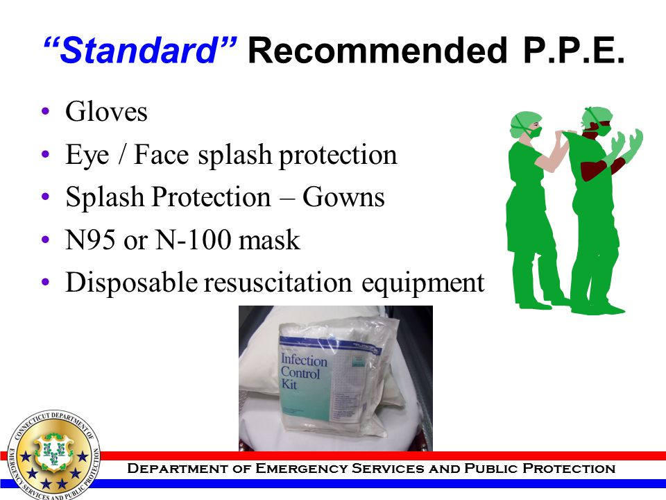 Standard Recommended P.P.E.