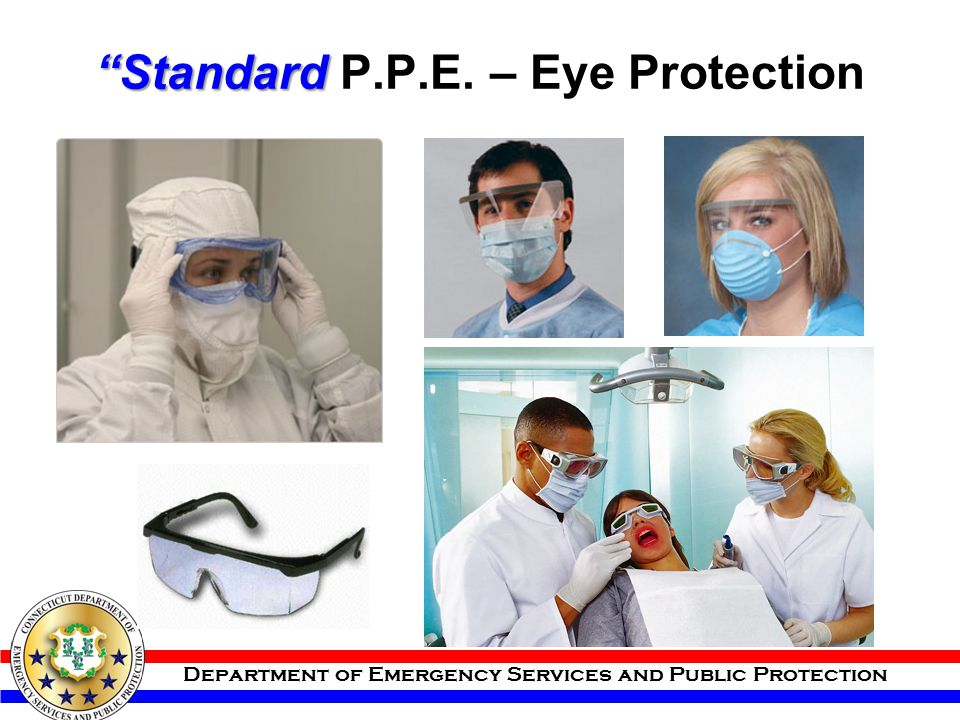 Standard P.P.E. – Eye Protection