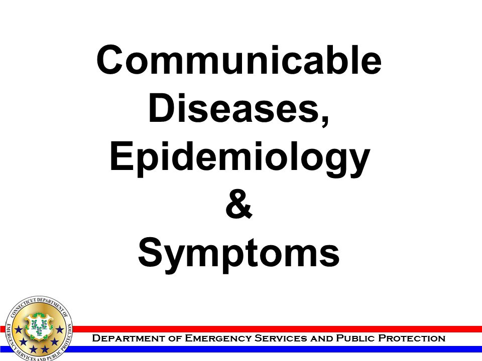 Communicable Diseases, Epidemiology