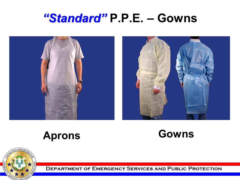 Standard P.P.E. – Gowns Gowns Aprons
