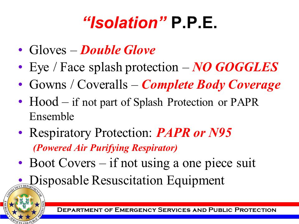 Isolation P.P.E. Gloves – Double Glove