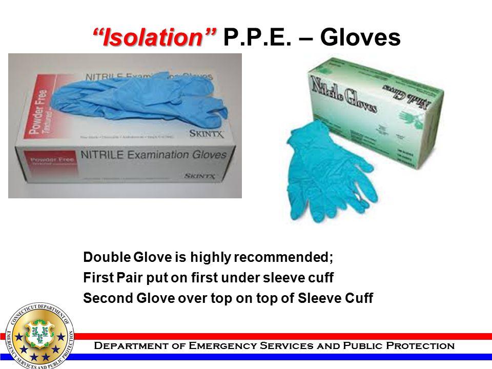 Isolation P.P.E. – Gloves