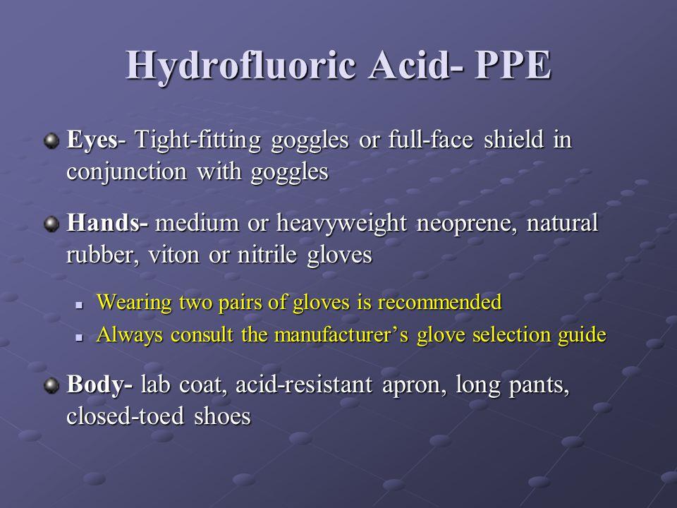 Hydrofluoric Acid- PPE